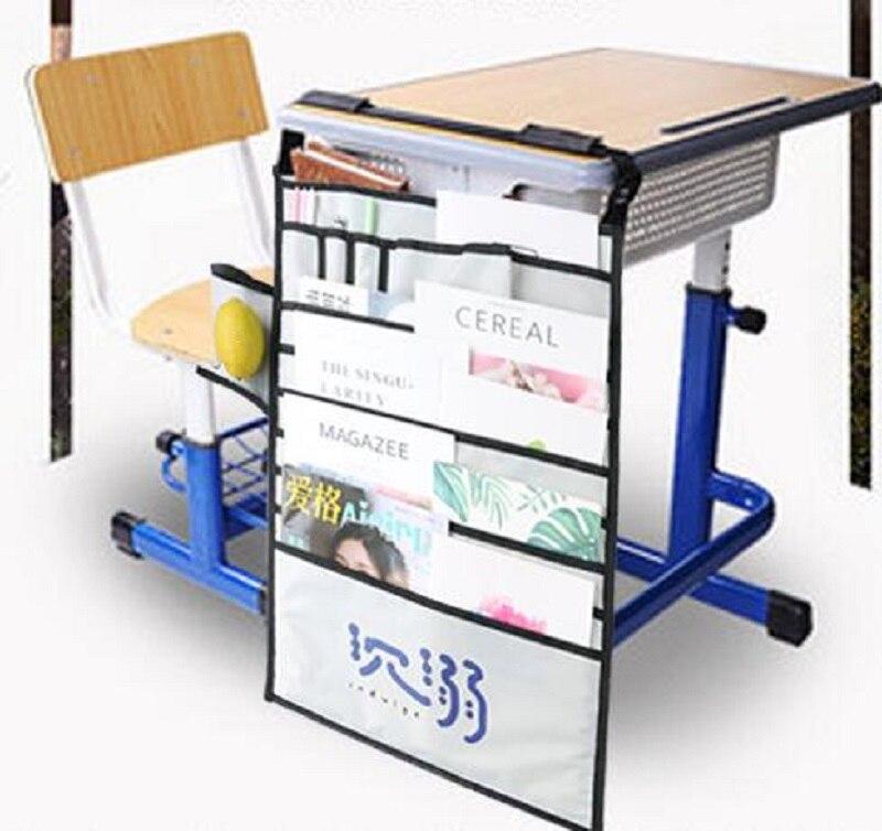 2019 Newest Multi-function desk artifact book storage bag Student desk book hanging bag