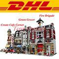 LEPIN 15002 Hacer Crear Cafe Corner 15004 Bomberos 10197 LEPIN 15008 Verdulería 10185 Building Blocks Ladrillos Set de Regalo juguetes