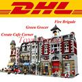 LEPIN 15002 Make Create Cafe Corner 15004 Fire Brigade 10197 LEPIN 15008 Green Grocer 10185 Building Blocks Bricks Set Gift Toys