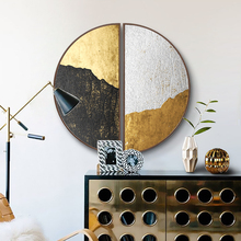 Gold Modern luxury Porch decorative painting Round Creative abstract Living room semicircular mural wall decoration