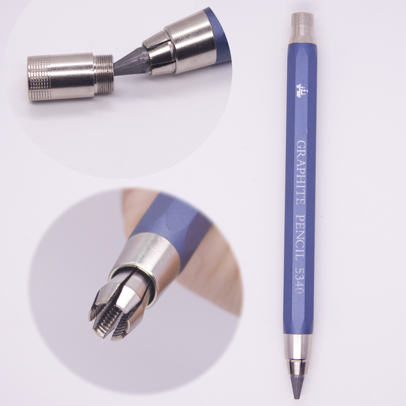 High-quality 5.6 Mm Mechanical Pencil Lead Holder Sketch And Drawing Pencil Aluminium & Copper