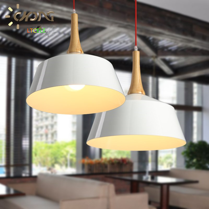 Luces moderno colgante lámpara colgante de aluminio color Blanco ...