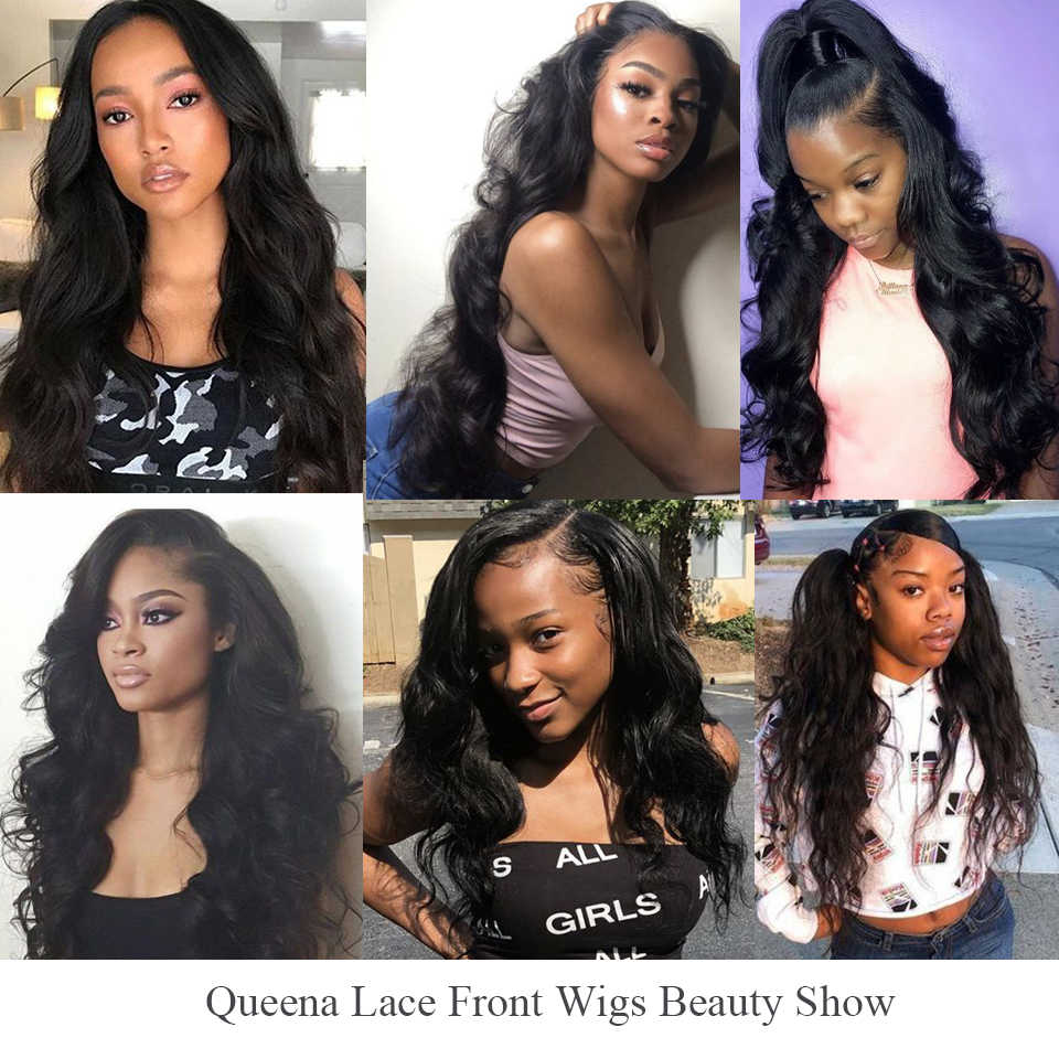 Transparent Lace Frontal Wig Glueless Lace Front Human Hair Wigs For Women Brazilian Body Wave Wig Pre Plucked Remy Natural Hair