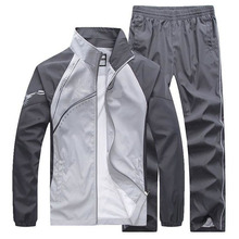New Mens Set Spring Autumn Men Sportswear 2 Piece Set Sporting Suit Jacket+Pant Sweatsuit Male Clothing Tracksuit Size 5XL