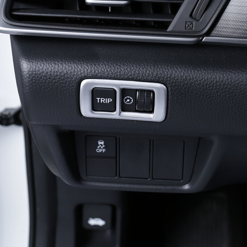 ABS Matte and Carbon fibre For <font><b>Honda</b></font> <font><b>Accord</b></font> 10th <font><b>2018</b></font> 2019 Car upper left middle control box decoration <font><b>Accessories</b></font> car styling image