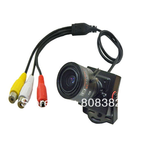HD 700TVL effio-e SONY CCD 960H 2.8-12mm Manual Focus IRIS Zoom Lens Mini CCTV Security Surveillance Tiny Audio Mic Camera