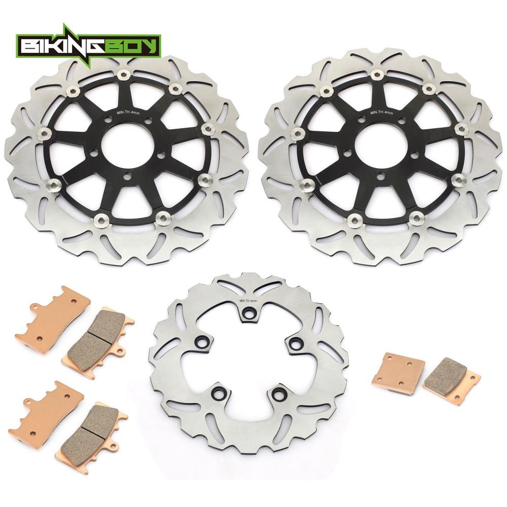 BIKINGBOY For Suzuki GSXR GSX-R 750 1996 1997 1998 1999 T V W X Front Rear Brake Discs Disks Rotors Pads Motorcycle Wave Round
