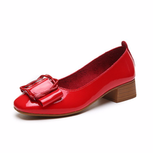 Single-shoe womens thick-heeled high-heeled shoes in summer new Korean version of shallow soft-soled Womens Shoes
