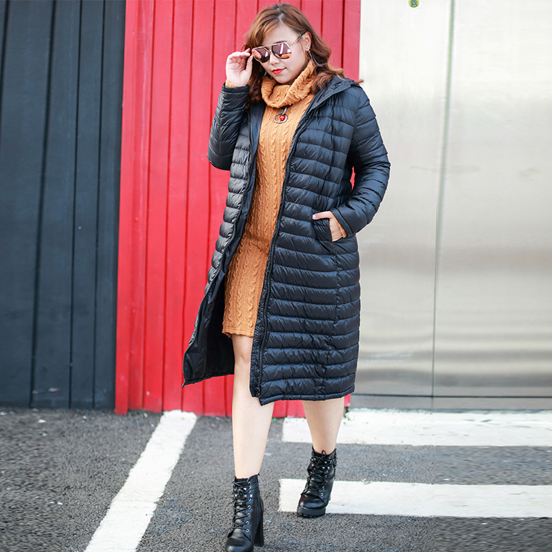 Korean style Extra large code number womens Winter Women Down Jacket Duck Down Hooded high quality duck belly hair down 9103