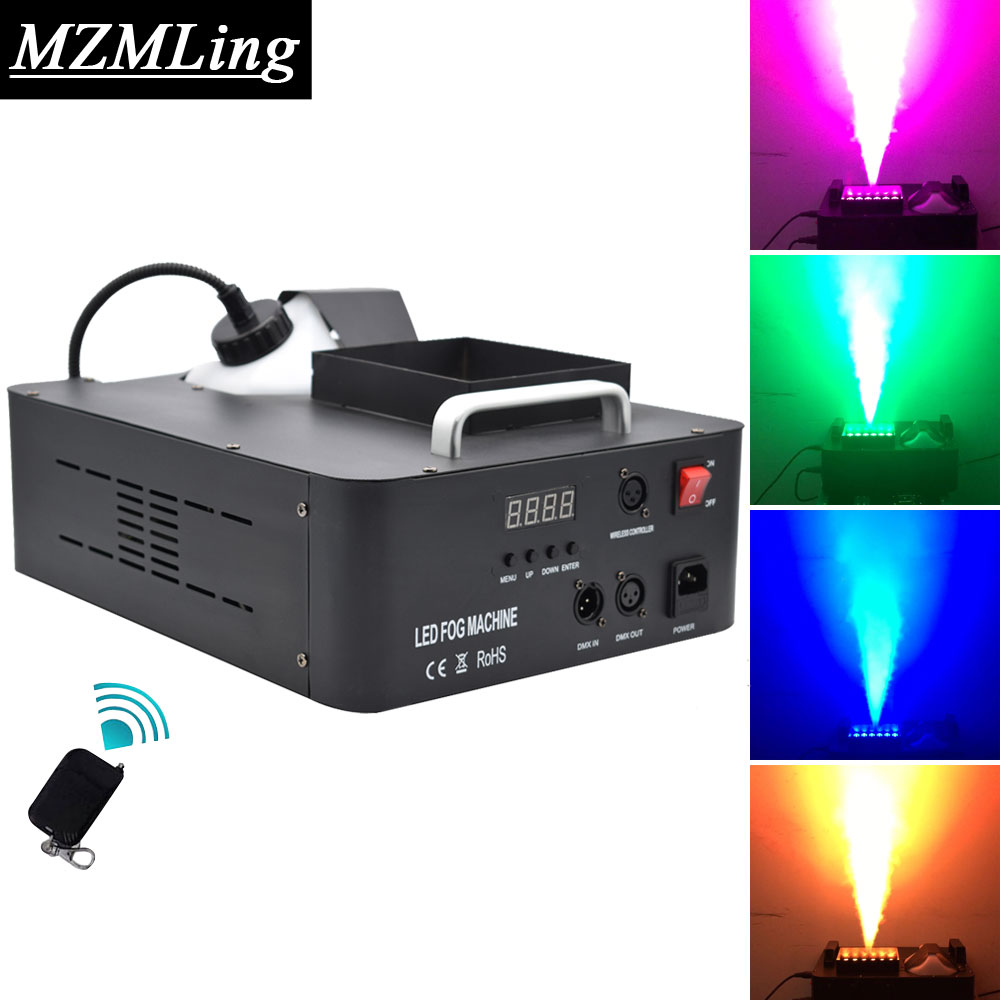 Super 1500w RGB 3 In 1 Fog Machine 2 5L DMX512 Smoke Machine With 24 3w