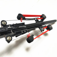 Tenth Version Semi automatic 40BB Slingshot Rifle SlingBow Draw Force Rubber Band Ammo Arrow ball Basic version