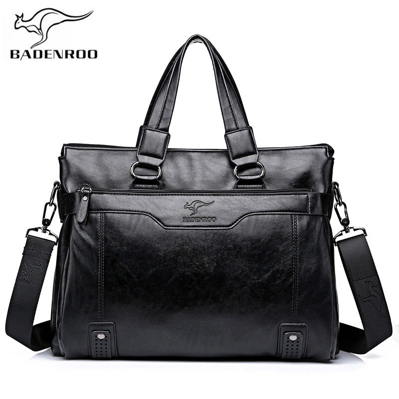Badenroo Male bag Leather Handbags Men's Business bag Briefcase Laptop Shoulder Crossbody Bags Large Capacity Man Messenger Bags цена 2017