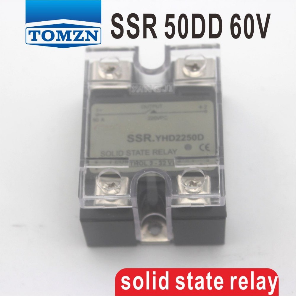 50DD SSR Control voltage 3~32VDC output 5~60VDC DC single phase DC solid state relay гаечный ключ с одним зевом vde 12мм haupa 110272