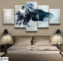 Hot Sales Without Frame 5 Panels Picture Canvas Painting Wing Eagle Flight Poster Artwork Wall Art Wholesale