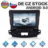 8 ядерный Android 8,0 автомобильный радиоприемник для Mitsubishi Outlander для Citroen C Crosser для peugeot 4007 gps Навигация DVD плеер стерео