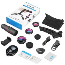 18 Times Long Focus Fish Eye Wide Angle Macro Four In One Set Of Universal External Mobile Phone Lens