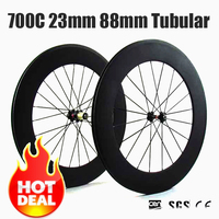 Catazer 700C 23mm Wide Road Bike Full Carbon 88mm Tubular Wheelset Chinese Carbon Wheels Velo Ruoto