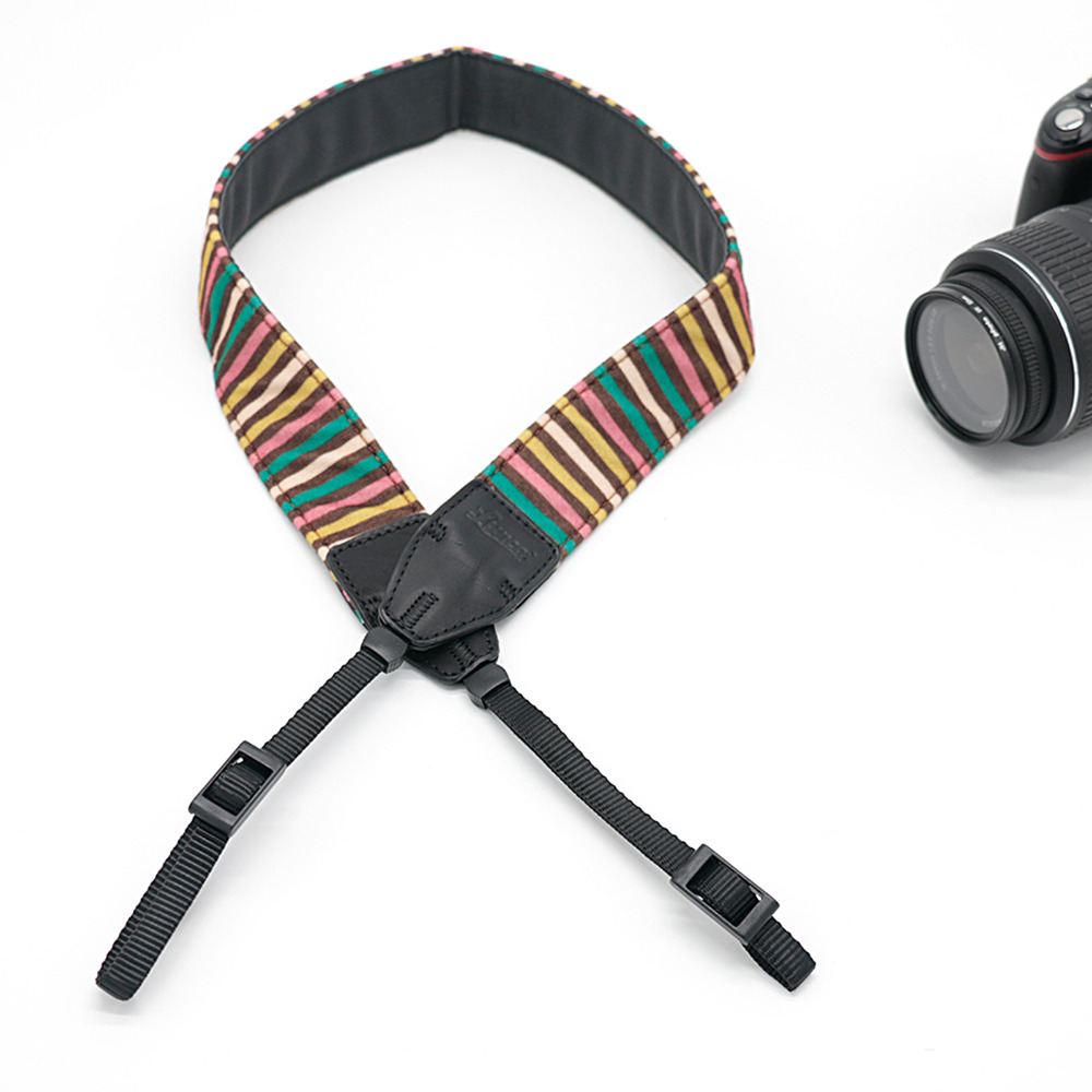 Color Striped LE-07 Camera Shoulder Strap For SLR DSLR For Canon Nikon Sony Camera free shipping