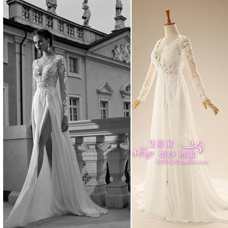 casamento long sleeve sexy backless kurtis 2018 vestido de noiva new bridal gown cheap lace Mother of the Bride Dresses