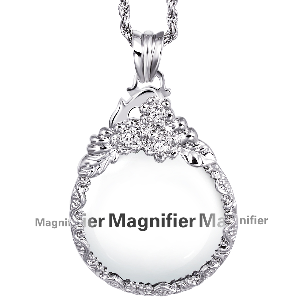 Fashion crystals necklace reading glass pendant women necklaces with fashion crystals necklace reading glass pendant women necklaces with magnifying glass pendants free shipping in pendant necklaces from jewelry accessories mozeypictures Image collections