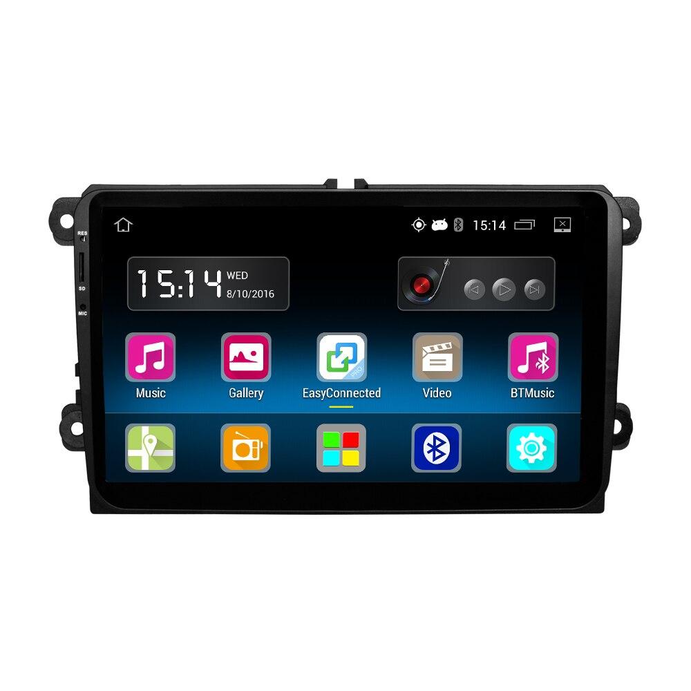 1 din 9 &#171;Android Quad Core Автомобильный DVD Для <font><b>VW</b></font> Passat <font><b>Golf</b></font> MK5 MK6 Jetta Polo Touran Sharan Автомобильный Радиоприемник стерео Navi canbus <font><b>Bluetooth</b></font>