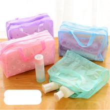 Makeup Organizers Travel Cosmetic Bag Cute Korea Transparent Waterproof Cosmetic Bag Wash Bag Small Portable