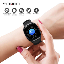 SANDA Mens Smart Watch Waterproof Fitness Heart Rate Monitor Digital Female Clock