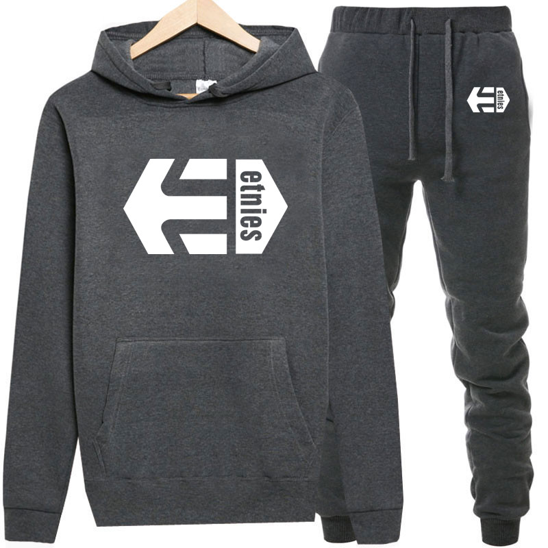 cb3c39db Tracksuits Men Polyester Sweatshirt Fleece 2019 Gyms winter Hoodie+ ...