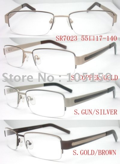 Retail high quality metal optical frames,free shipping,12pcs/lot,with three colors,55-17-140(SR7023)