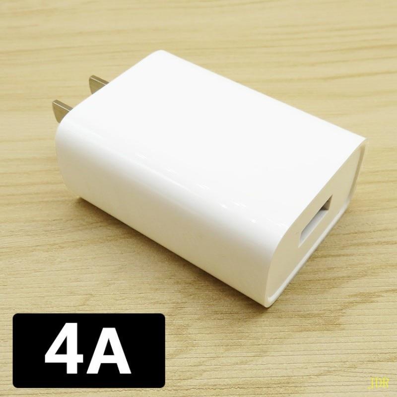 500 pcs Mobile téléphone chargeur USB plug 4A flash charge haute vitesse 3A android téléphone universel 2A rapide charge directe charge