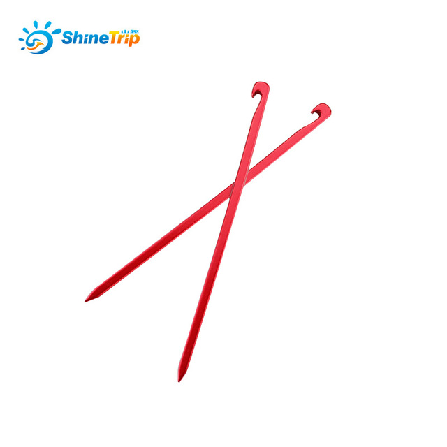 10pcs Shinetrip 7001 Aviation aluminum alloy tent pegs Ultralight Square nail Stakes Hook Pin Nails Camping Accessories 16cm