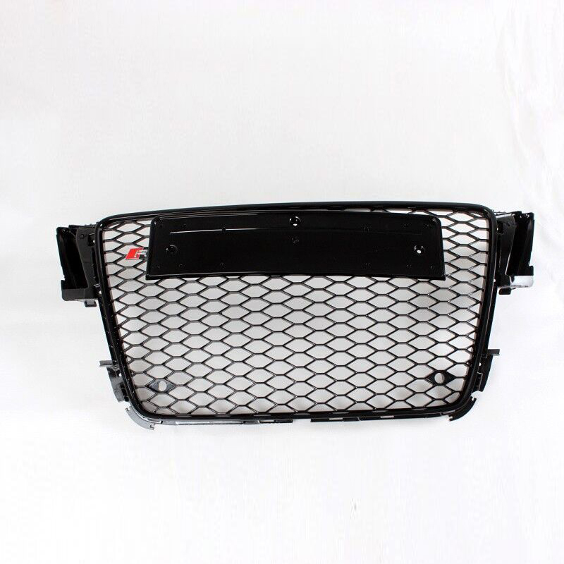 a5 black abs car styling exterior parts front mesh grill. Black Bedroom Furniture Sets. Home Design Ideas