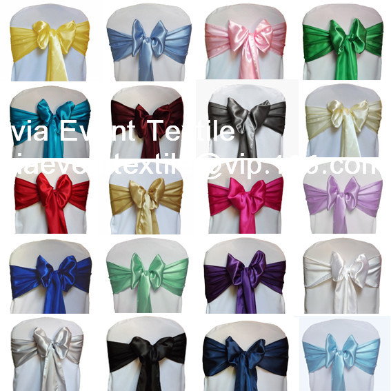 50pcs Satin Chair Sash 20x270cm,Wedding Satin Chair Chair Bow &Tie , Whole Sale Chair Sash For Wedding Events &Party Decoration