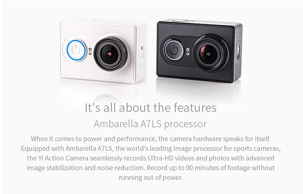 YI Action Camera 1080P Lime Green White Black 16MP Full HD 155 degree Ultra-wide Angle Sports Mini Camera 7