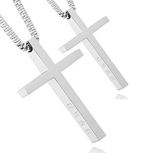 famous brand Titanium steel Jesus cross necklace Couple Pendant girlfriend birthday Love gift women jewelry accessories