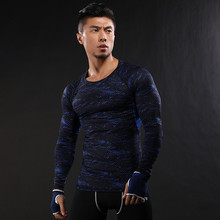 Fitness Shirt Men Gym Long Sleeve Quick Dry Running T Shirt Dry Fit Tight Compression Workout Sport Shirt Bodybuilding Rashgard fitted quick dry gym long sleeve t shirt