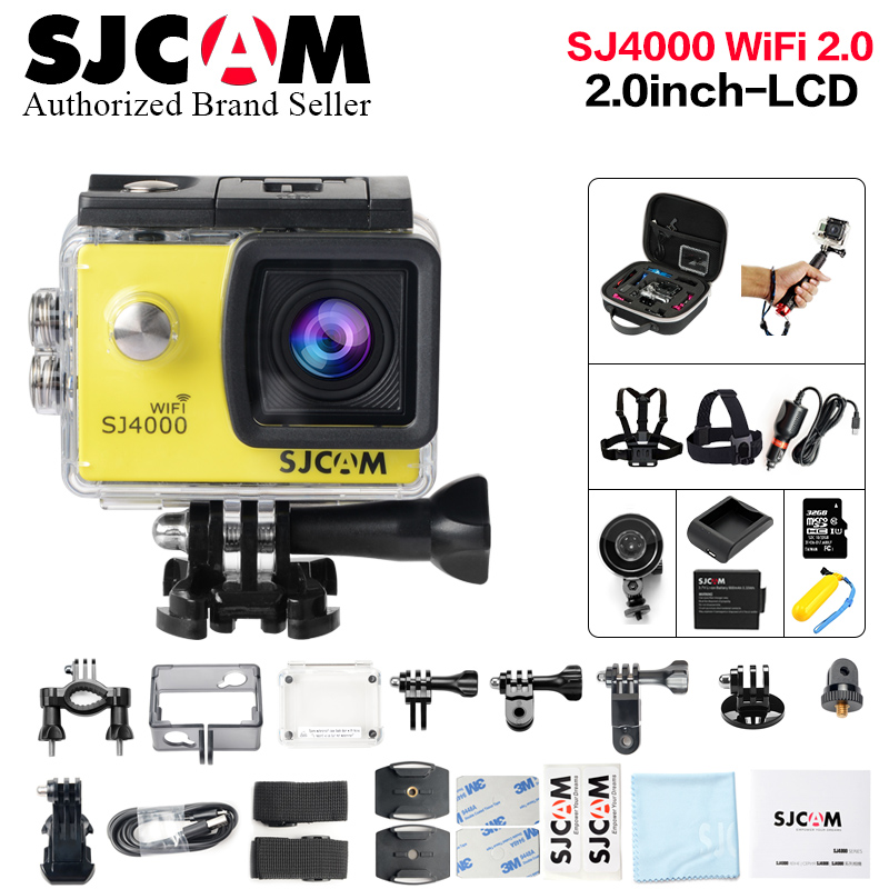 New Original SJCAM SJ4000 WiFi Action Camera 2.0 inch Sports DV Screen 1080P HD Diving 30M Waterproof mini Camcorder SJ 4000 Cam