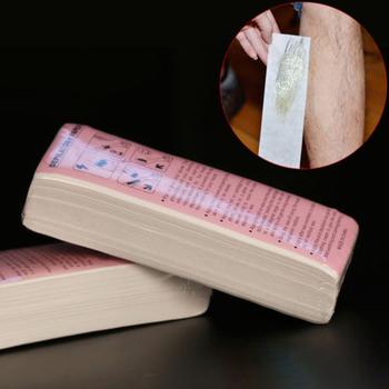 100 sztuk z specjalny gruby włókniny wosk do depilacji depilacja woskiem papier woskowany do papieru biały wosk do depilacji do depilacji tanie i dobre opinie Kobiet SC11137108212320 Krem do depilacji hair removal Waxing wax paper 100pcs