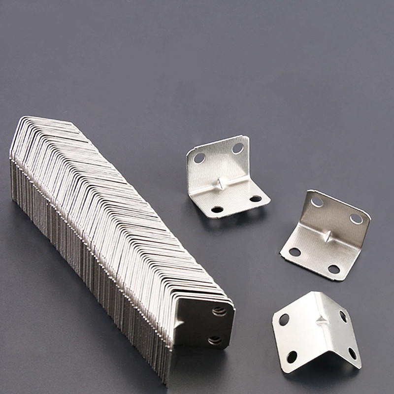 10pcs Stainless Steel Used For Inner Corner Reinforcement Of Right Angle Corner Joints L-type Metal Brackets Furniture Hardware