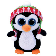 "Pyoopeo Original Ty Boos 10"" 25cm Penelope Christmas Penguin Plush Medium Soft Stuffed Animal Collection Doll Toy with Heart Tag(China)"