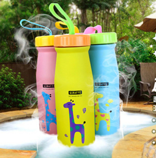 Cute Cartoon Giraffe Stainless Steel Thermos Vacuum Cup Kids Water ...