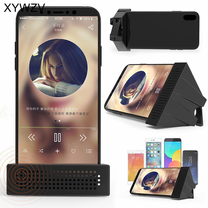 Universal Portable Mobile Amplifier Holder Music Videos Smartphone Sound Amplifier Phone Party stand With Sound Amplification in Phone Holders Stands from Cellphones Telecommunications