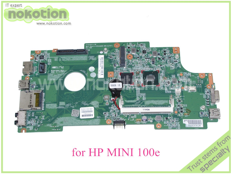 все цены на NOKOTION 615969-001 for HP Mini 100e 110E  Laptop motherboard SLBX9 N455 CPU DDR3 онлайн