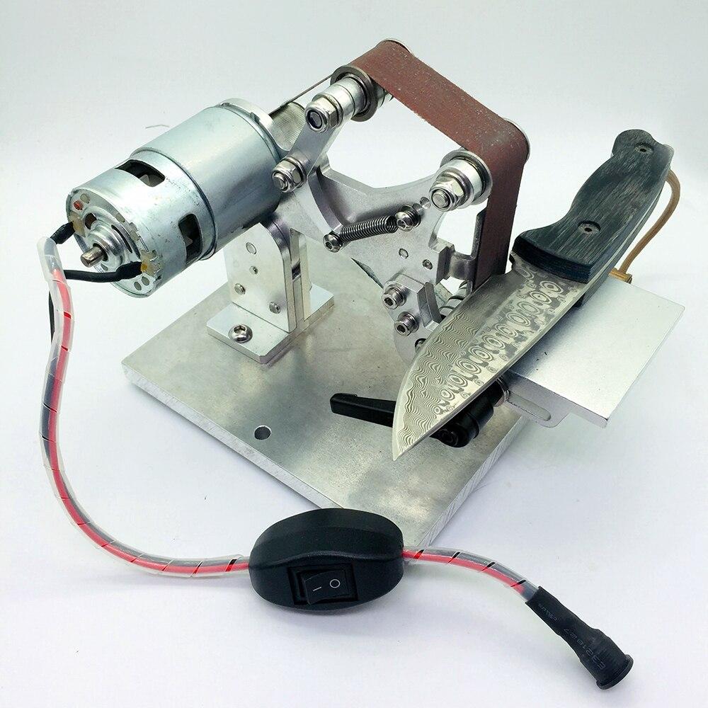 WW third version Electric Mini Abrasive Belt machine work sharp knife sharpener sharpening system Knife Open V tool-in Sharpeners from Home & Garden    2
