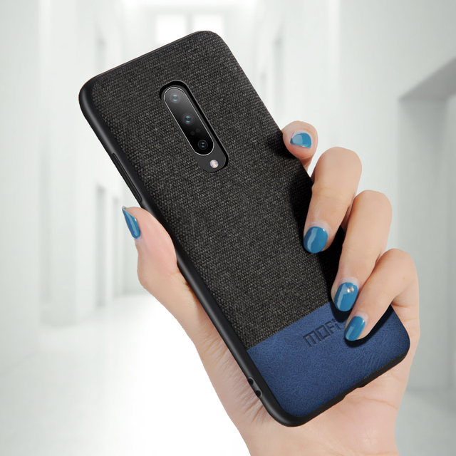 MOFi OnePlus 7 Shockproof Luxury Fabric Design Back Case Cover