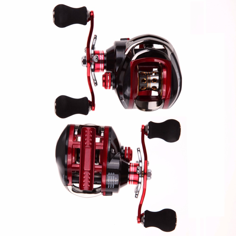 17+1 Bearings System YZR 17+1 BB 6.3:1 Saltwater Bait Casting Fishing Reel Magnetic Left/Right Hand Water Drop Fishing Wheel 1 17
