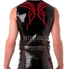 sexy style for adult Latex Tattoo Muscle vest Tank