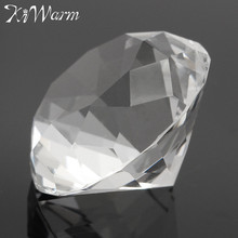 KiWarm 30mm Clear Crystal Diamond Paperweight Figurines Glass Gem Crafts Ornaments DIY Crafts Luck Gifts for Wedding Home Deocr