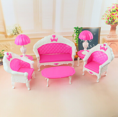 Fashion Baby furniture accessories toys high-grade classical sitting room tea table and sofa