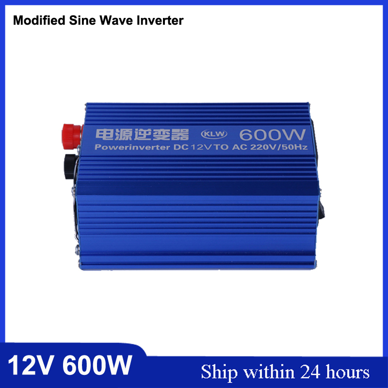 New Design 600W Modified Sine Wave DC12V to AC220V Car Power Inverter 24V 220V 50HZ Solar Power Inverter With 5V USB Charge Port